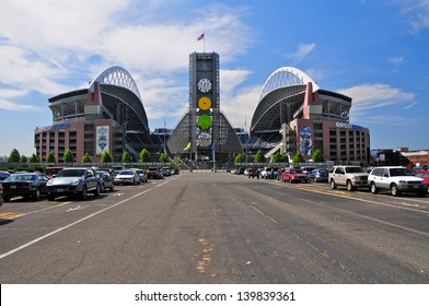 SEATTLE-JULY 28: CenturyLink Field professional football and soccer stadium in Seattle, WA on July 28, 2008. Home of the Seattle Seahawks (NFL) and Sounders (MLS) it has a capacity of max. 72000