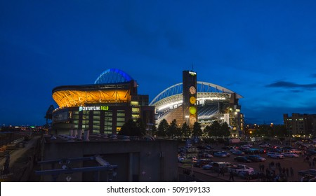 Seattle,Washington,usa. 2016/06/14 : Centery link stadium at night.