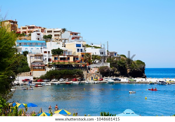 Seaview Bali Village Crete Island Greece Stock Photo Edit Now 1048681415