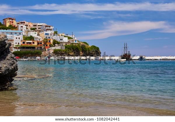 Seaview Bali Village Crete Island Greece Stock Photo Edit Now 1082042441