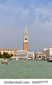 Sea-view of Piazza San Marco with Campanile and Doge Palace, Venice, Italy, Europe