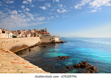 Seawall of Antibes in Southern France
