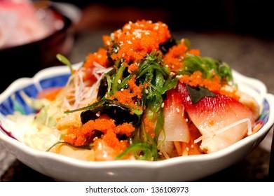 Seaweed spicy salad, japanese food