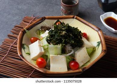 seaweed tofu salad
