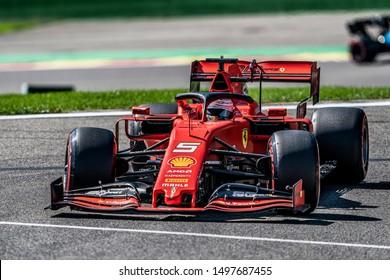 Sebastian Vettel (Germany) in the Scuderia Ferrari Mission Winnow SF90 2019 F1 car during the 2019 Formula 1 Johnnie Walker Belgian Grand Prix (29/08/2019 - 01/01/2019) at Circuit de Spa-Francorchamps