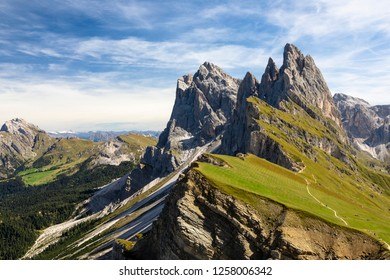 The Seceda is located on the sunny side of Val Gardena, at the foot of the Parco Naturale Cisles-Odle (nature reserve)