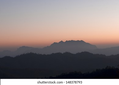 Secenry beauty of mountain rages in the morning on Huai Nam Dang national park, , Northern of Thailand.