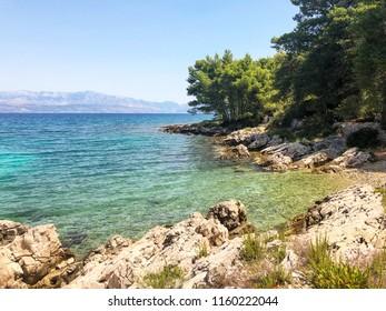 Secluded beach, Croatia