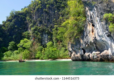 Secluded beach on Koh Hong in the Andaman Sea, Krabi province, Thailand