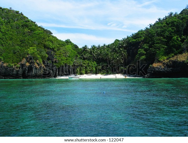 Secluded Beach in Phi Phi Island