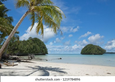 Secluded beach and Rock island views in Palau