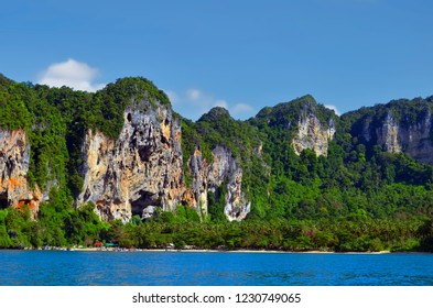 Secluded beach of Tonsai between Ao Nang and Railay in the morning, Krabi province, Thailand