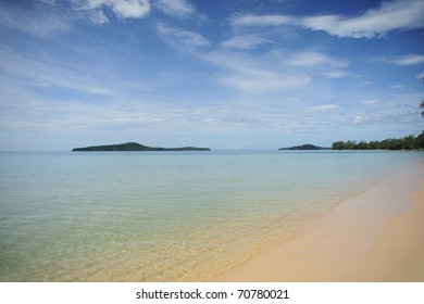 Secluded beaches in Cambodia