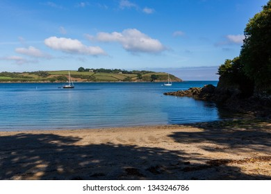 Secluded Cove on the Helford River Estuary in Cornwall, England, UK