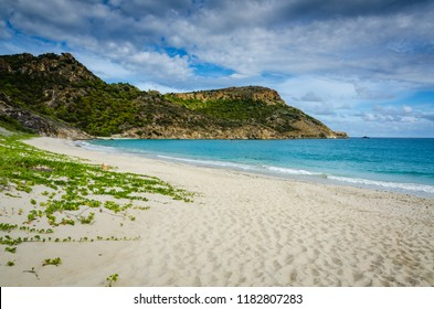 Secluded Grande Saline Beach on Saint Barthélemy with a clothing optional policy.