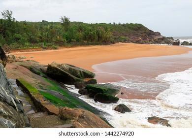The secluded honey beach at Gokarna