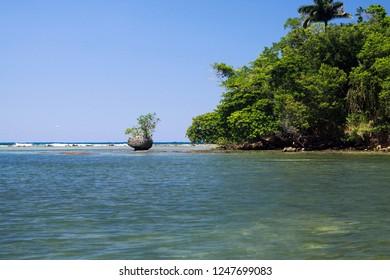 secluded Lagune on Jamaica
