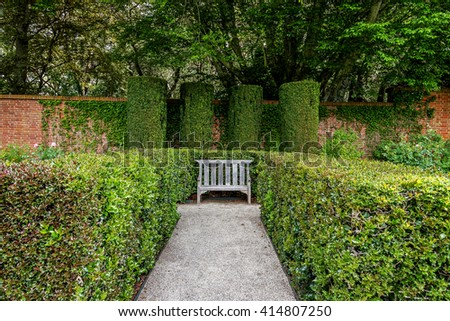 Secluded Old English Garden Style Park Stock Photo Edit Now