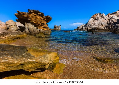 Secluded small beach on the north side of Sardinia