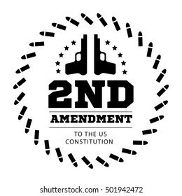 Second Amendment to the US Constitution to permit possession of weapons. illustration