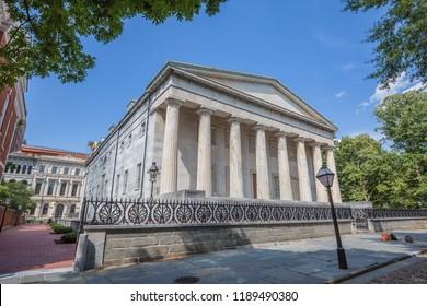 The Second Bank of America in historic old city Philadelphia, Pennsylvania.