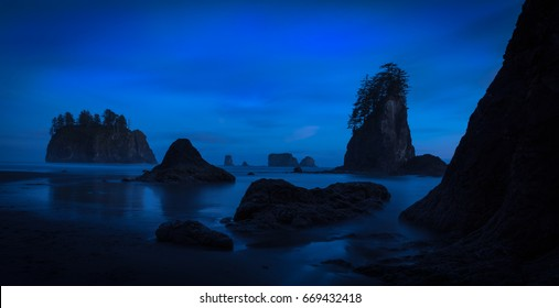 Second Beach, Olympic National Park, Sunset
