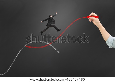 Second Curve Concepts Woman Hand Holding Stock Photo (Edit