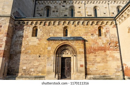 second Entrance of the 800 years old romanesque style jak church
