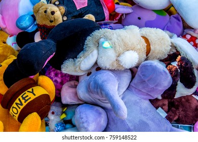Second hand toys in the market.Christmas