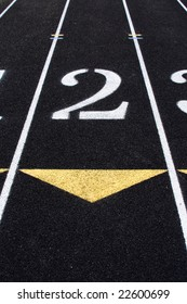 The second lane in a track and field lane.