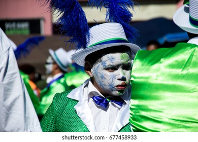 Second New Year, Cape Town, South Africa - 2nd january 2017  Minstrels celebrating the Carnival and marching at Bo Kaap neighborhood