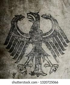 Hessische Tasche aus dem Zweiten Weltkrieg, geprägt mit Adler und Swastika-Emblem der Nazi-Partei