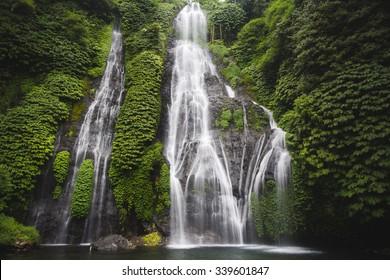 Secret Bali jungle Waterfall called Banyumala