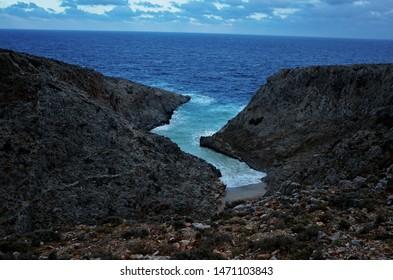 Secret bay in Crete island