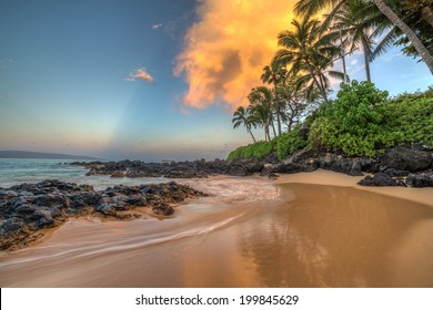 Secret Cove, Makena, Maui at sunrise