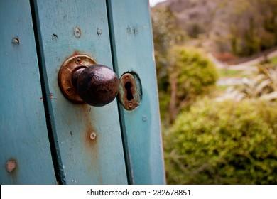 Secret Garden Door, Kylemore Abbey, Connemara, Co. Galway, Ireland