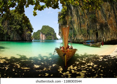 Secret paradise located at south Thailand beaches only reached by the locals long tail boats.