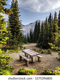 Secret picnic spot in the mountains