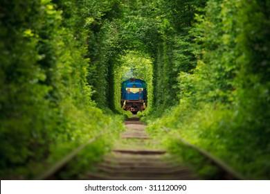 secret train 'tunnel of love' in ukraine
