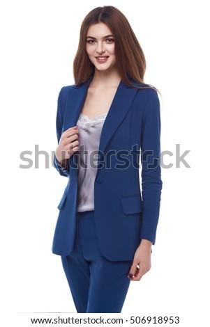 Secretary Diplomatic Protocol Office Uniform Stewardess Stock Photo