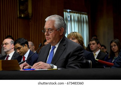Secretary Of State Rex Tillerson testifies at the Senate Appropriations Subcommittee on State and Foreign Operations budget funding for FY 2018 in Washington, DC. June 13, 2017.
