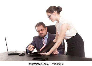 the secretary transfers documents to the head