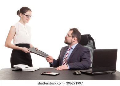 the secretary transfers documents to the head