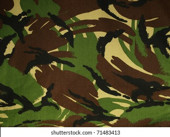 A section of British DPM camouflage fabric.