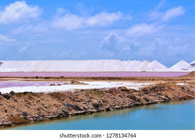 A section of the Cargill salt mining works on the Caribbean island of Bonaire.