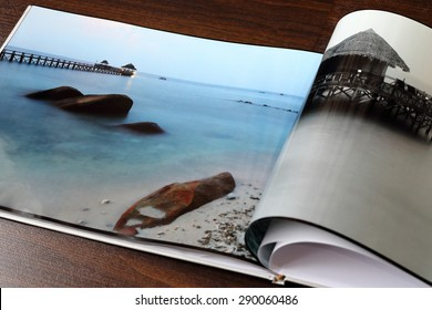 Section of My Photobook Showing Beautiful Seascape Scenery