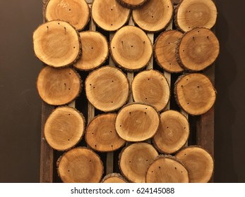 Section of wooden trunks.