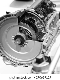 Sectional view of automotive engine