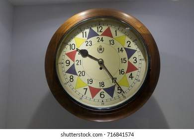sector control clock in RAF Sector Operations Room used to plan the defense of Malta and invasion of Sicily during world war two Headquarters Lascaris War Rooms, Valletta, Malta, June 2017