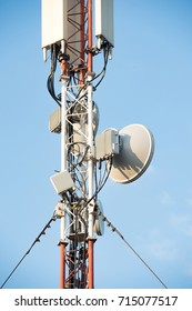 sectoral and narrow-band antennas on the mobile telecommunications technology network tower